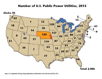 Map Of Public Power Utilties